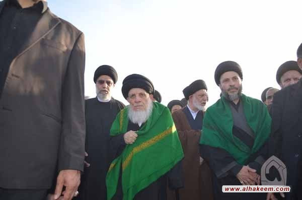 The Participation of His Eminence in the Walk of Arbaeen 1436