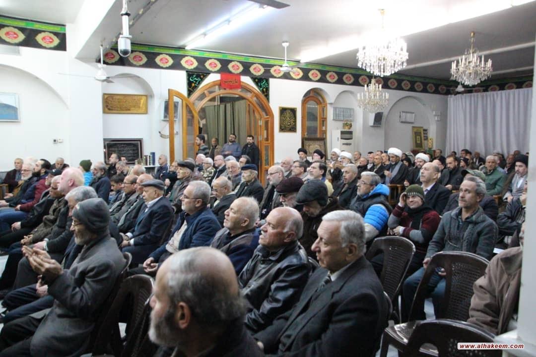 اقامة مجلس الفاتحة على روح المرحوم سماحة حجة الإسلام والمسلمين السيد صالح نجل آية الله السيد محمد حسين الحكيم (قدس سره) في العاصمة السورية دمشق