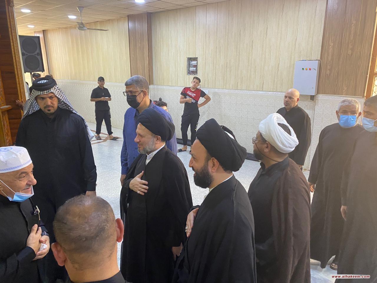 ممثل المرجع الكبير السيد الحكيم (مدّ ظله) يتفقد المواكب الحسينية في كربلاء المقدسة وينقل سلام ودعاء المرجعية لأصحاب المواكب والزائرين