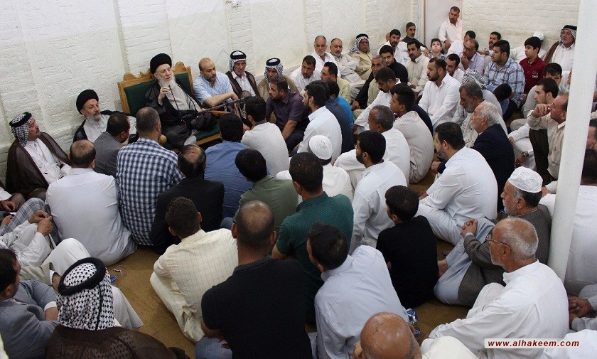 The Meeting of His Eminence with the Managers of the Mawakib of Imam Hussein (peace be upon him)