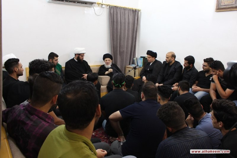 His Eminence, Grand Ayatollah Sayyid al-Hakeem directs university students towards investing into the tragedy of Karbala, for the purpose of calling to the right path, towards salvation and accomplishment of this world and the Hereafter.