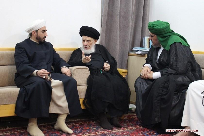 سماحة المرجع الكبير السيد الحكيم (مدّ ظله) يدعو العراقيين للتحلي بالألفة والمحبة ولم الشمل، وتحدي أعدائهم وعدم الانخداع بمن لا يريد لهم الخير والنجاح