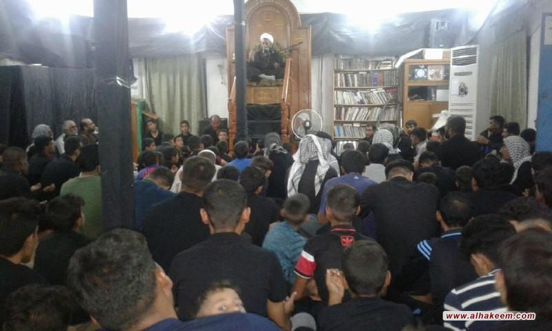 مكتب سماحة المرجع الديني الكبير السيد محمد سعيد الحكيم (مد ظله) في منطقة السيدة زينب (عليها السلام) في سوريا، يحيي ذكرى شهادة سيد الشهداء الإمام الحسين (عليه السلام)