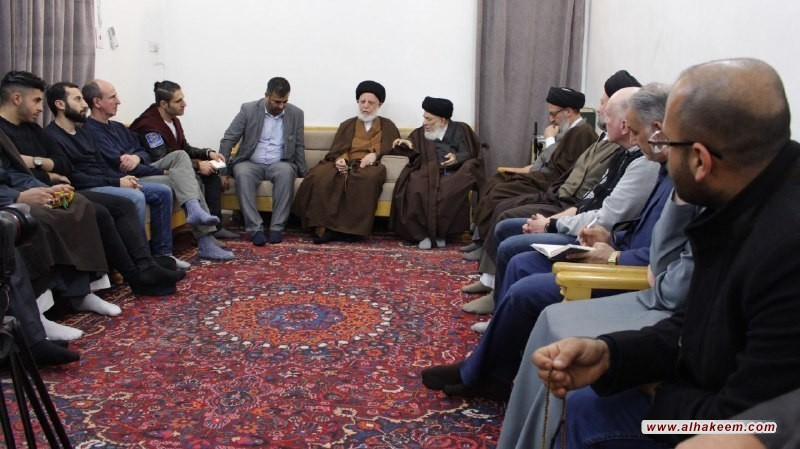 Grand Ayatollah Sayyid Mohammed Saeed al-Hakeem received a delegation representing the Christian Church and the media in Germany.