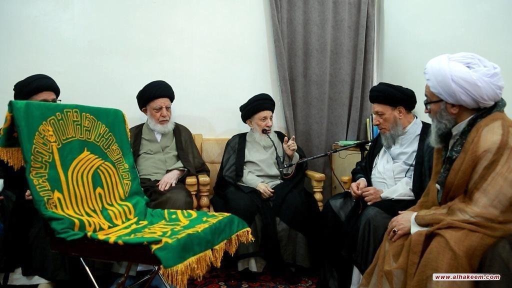 ديدار مرجع عاليقدر حاج سيد محمدسعيد حكيم (مدظله) با هيئتى از استان قدس رضوى