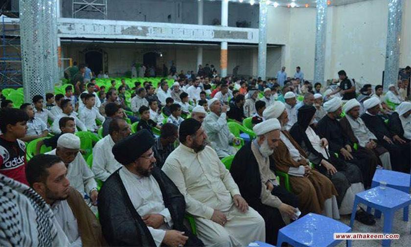 برعاية مكتب سماحة المرجع الكبير السيد الحكيم (مدّ ظله) .. إقامة حفل تخرج الدورات الصيفية في حي البلديات ببغداد