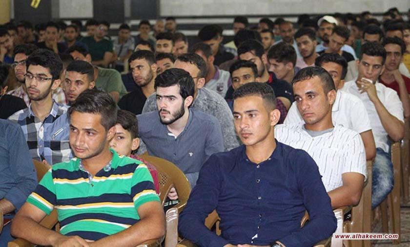 برعاية قسم الشباب بمكتب سماحة المرجع الكبير السيد الحكيم؛ 300 طالب اكاديمي ينتظمون بالدورة الصيفية السابعة في مدرسة السيد محسن الحكيم (قدس) في النجف الاشرف