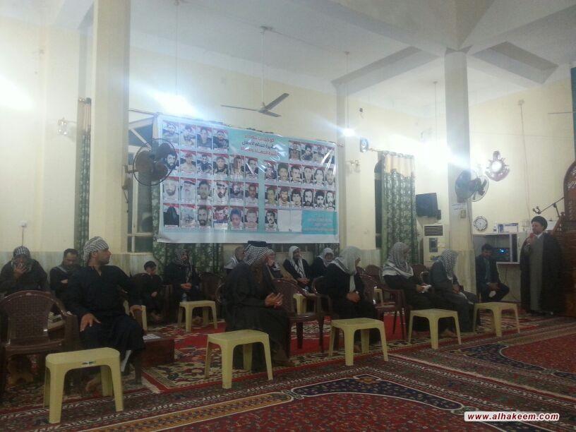 بازدید نماینده دفتر از خانواده شهدای حشد الشعبی در استان بصره