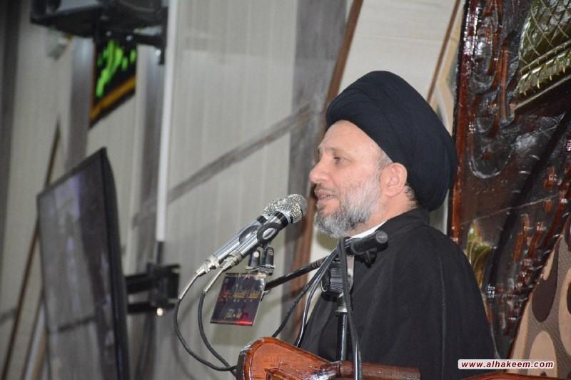 السيد عزالدين الحكيم (دام عزه) يشارك في تكريم عوائل شهداء الحشد الشعبي والقوات الامنية في منطقة الرارنجية جنوب الحلة