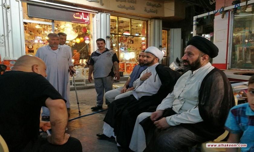 پشتبانی دفتر از هیئتهای عزاداری شهر کاظمیه به مناسبت شهادت امام جواد علیه السلام