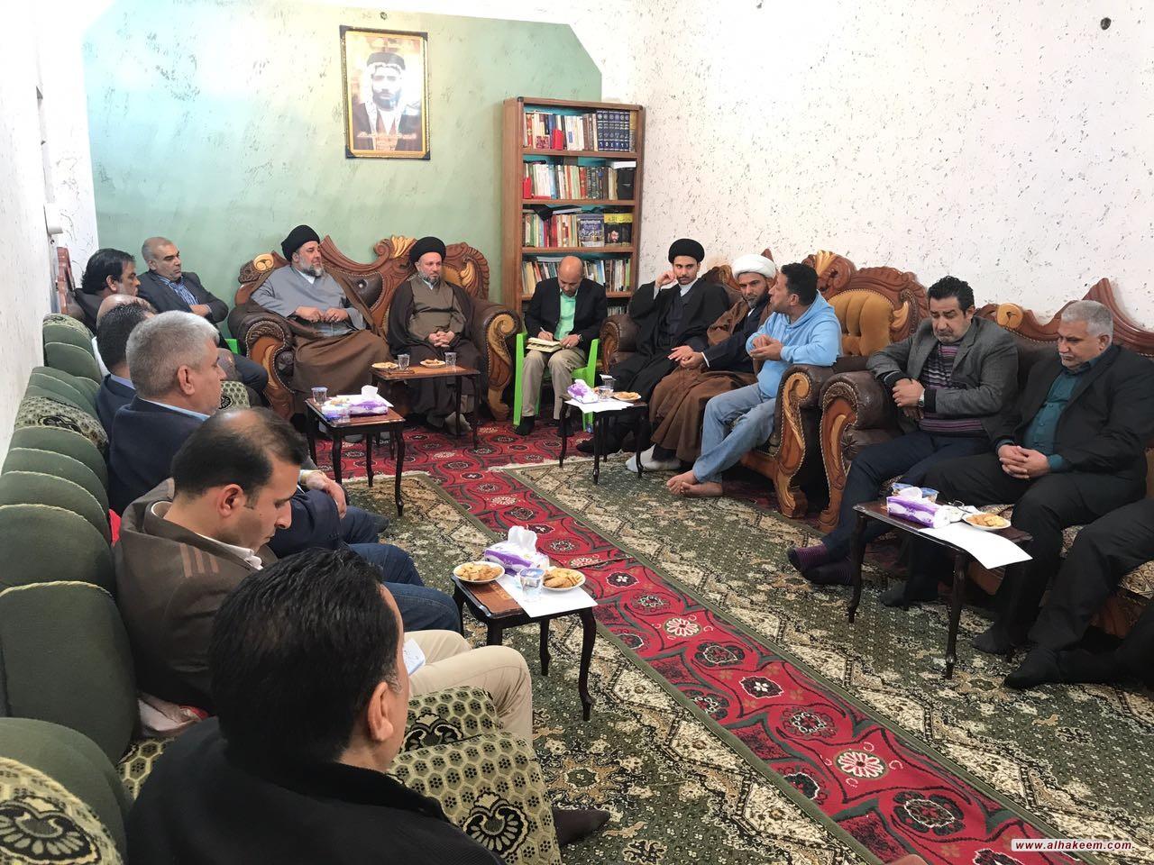 وفد مكتب سماحة المرجع الكبير السيد الحكيم(مدّ ظله) يلتقي بمجموعة من النخب والكفاءات في مدينة الصدر بالعاصمة بغداد
