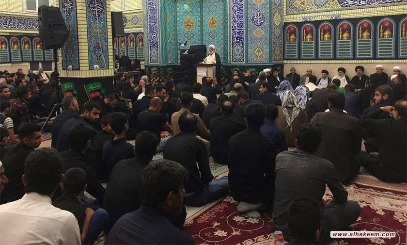 بازدید آیت الله سید ریاض حکیم (دام عزه) از مرکز فرهنگی امام حسین (علیه السلام) در شهر اهواز