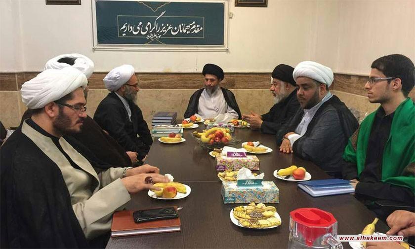 بازدید آیت الله سید ریاض حکیم (دام عزه) از حوزه علمیه الغدیر در شهر اهواز