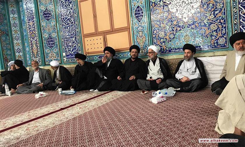 آية الله السيد رياض الحكيم (دام عزه) يزور مسجد الشيخ الهجري في مدينة عبادان