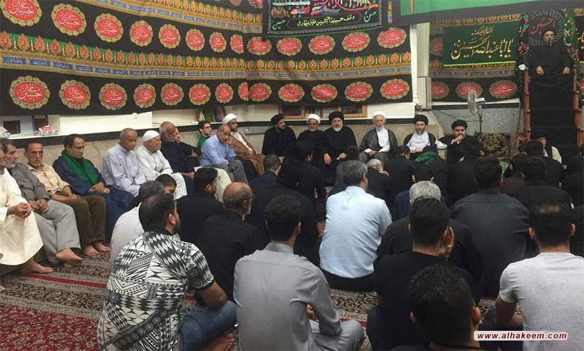آية الله السيد رياض الحكيم (دام عزه) يزور حسينية أم البنين (سلام الله عليها) في مدينة عبادان