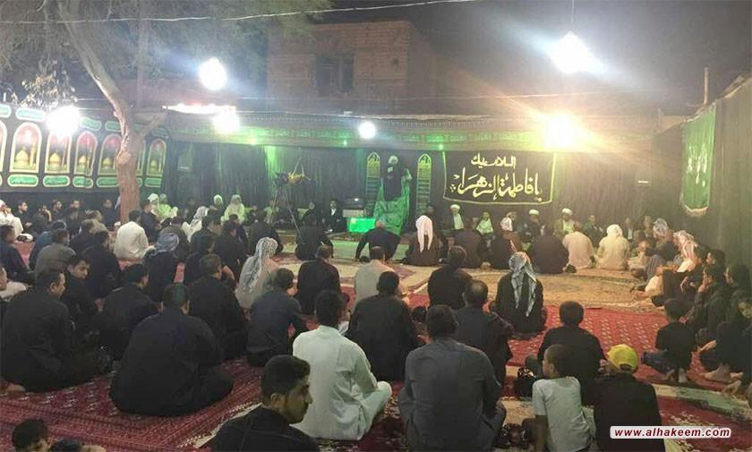 آية الله السيد رياض الحكيم (دام عزه) يزور هيئة أنصار الإمام الحسين (عليه السلام) في مدينة الفلاحية