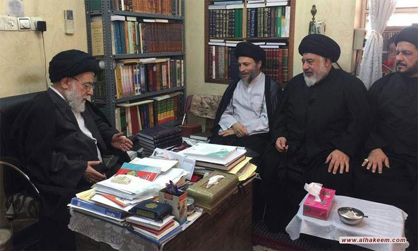 ملاقات آیت الله سید ریاض حکیم (دام عزه) با نماینده استان خوزستان در مجلس خبرگان