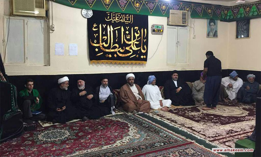 آية الله السيد رياض الحكيم (دام عزه) يزور مسجد علي بن أبي طالب (عليه السلام) في منطقة گرگر