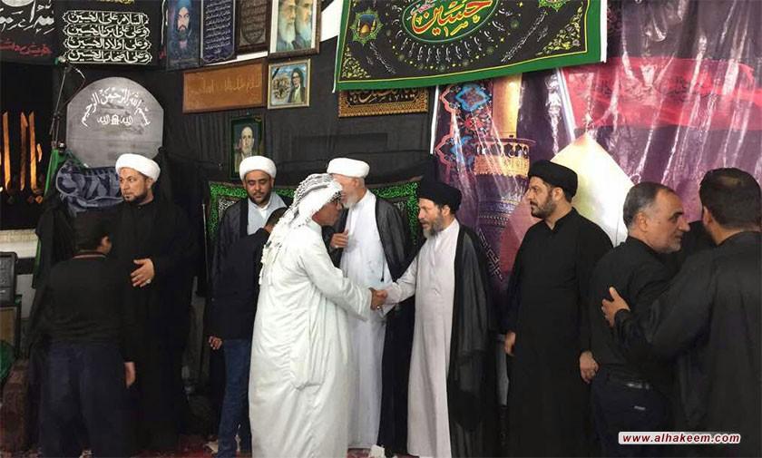 آية الله السيد رياض الحكيم (دام عزه) يزور حسينية الحاج فاضل معر في مدينة عبادان