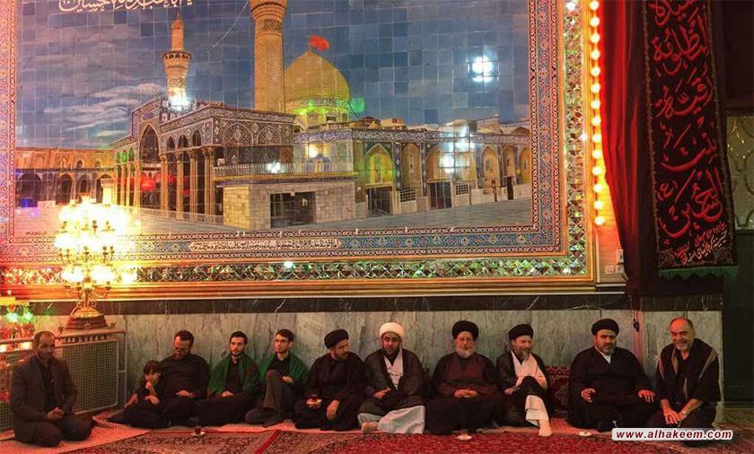 آية الله السيد رياض الحكيم يزور الحسينية الكربلائية في محافظة أصفهان