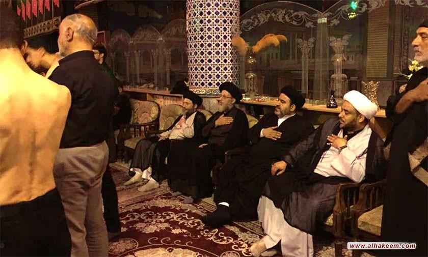 آية الله السيد رياض الحكيم يزور الحسينية الكاظمية في محافظة أصفهان