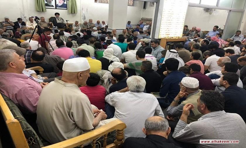 المؤمنون يحيون ذكرى ولادة الإمام الحسن المجتبى (عليه السلام) في مكتب سماحة المرجع الديني الكبير السيد محمد سعيد الحكيم (مدّ ظله) في منطقة السيدة زينب (عليها السلام) في سوريا