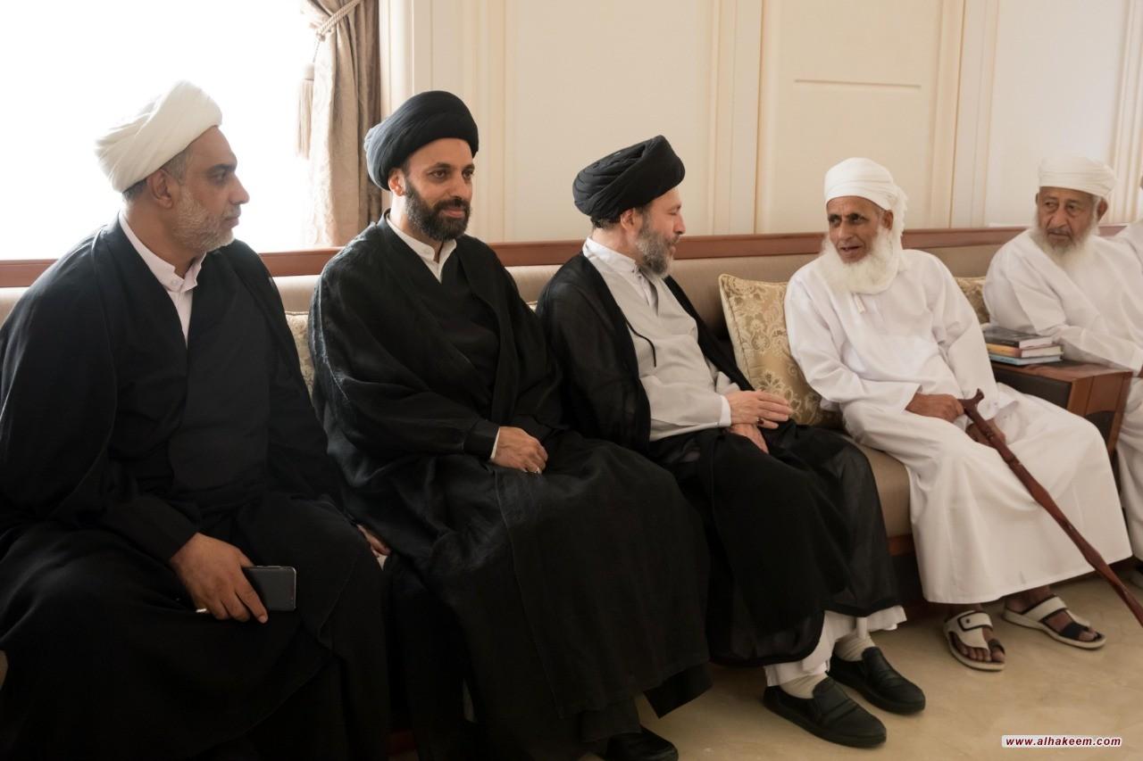 ممثل سماحة المرجع الديني الكبير السيد الحكيم (مدّ ظله)، يلتقي بمفتي عام سلطنة عمان، ويدعوان إلى تظافر الجهود المخلصة لتعميم ثقافة الاعتدال والقيم الإنسانية والإسلامية الأصيلة