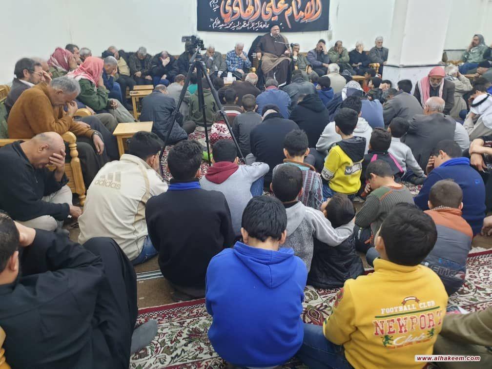 مكتب سماحة المرجع الديني الكبير السيد الحكيم(مدّ ظله) في السيدة زينب (عليها السلام) في دمشق يقيم مجلس عزاء بذكرى شهادة الإمام علي الهادي (عليه السلام)