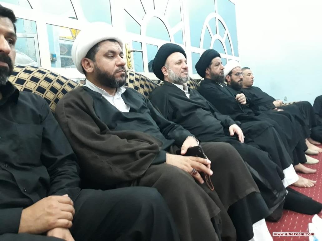 ممثل مكتب المرجع الكبير السيد الحكيم (مد ظله) يشارك بمراسم العزاء في حي الحسين بالبصرة