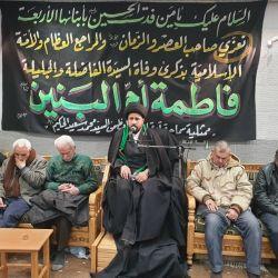 المؤمنون في منطقة السيدة زينب (عليها السلام) في سوريا يحيون مراسم وفاة ام البنين (عليها السلام) في مكتب المرجع الديني الكبير السيد الحكيم (مدّ ظله)