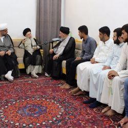 سماحة المرجع الكبير السيد الحكيم يستذكر حياة الإمام محمد الجواد عليه السلام خلال استقباله مجموعة من طلبة مدينة الديوانية