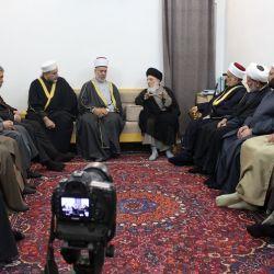 استقبال آیت الله العظمی حکیم (مدظله) از مجمع فقهی اهل تسنن عراق