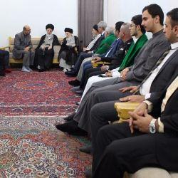 آیت الله العظمی حکیم (مدظله) سفیر جدید فرانسه در بغداد را به حضور پذیرفت
