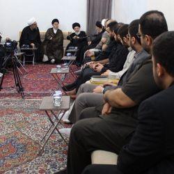 ایت الله حکیم (مدظله) در دیدار با شیعیان لبنان : مؤمنان را به پایبندی به اعتقادات مذهبی وبرپایی مناسبت های دینی وشعائر حسینی، دعوت نمود