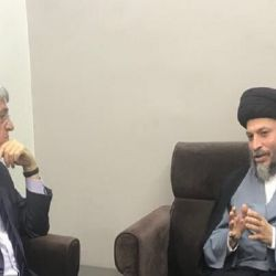 آية الله السيد رياض الحكيم يستعرض مع السفير الفرنسي ما تعرض له الشيعة من إبادة على يد داعش الإرهابي، ودور حوزة النجف الأشرف بالدفاع عن العراق