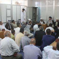 دیدار سید عزالدین حکیم با اهالی منطقه البلدیات در بغداد و دعوت به استفاده حداکثری از ماه مبارک رمضان و اخلاص به خدا