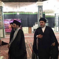 بازدید آیت الله سید ریاض حکیم (دام عزه) از مرقد علی بن مهزیار اهوازی در شهر اهواز