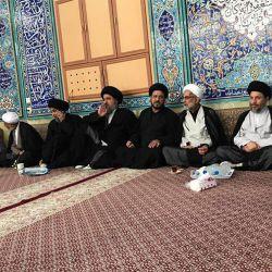 بازدید آیت الله سید ریاض حکیم (دام عزه) از مسجد شیخ الهجری در شهر آبادان
