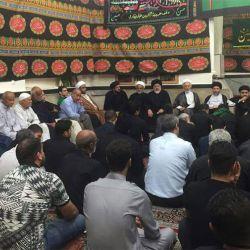 بازدید آیت الله سید ریاض حکیم (دام عزه) از حسینیه ام البنین (علیها سلام) در شهر آبادان