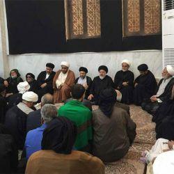آية الله السيد رياض الحكيم (دام عزه) يزور ديوان وحسينية الشيخ الخاقاني في مدينة المحمرة