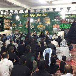 آية الله السيد رياض الحكيم (دام عزه) يزور حسينية أبا عبد الله الحسين (عليه السلام) في منطقة گرگر