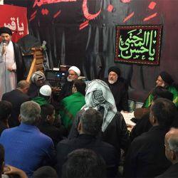 آية الله السيد رياض الحكيم (دام عزه) يزور حسينية باب الحوائج (عليه السلام) في منطقة الجراحي