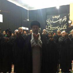 آية الله السيد رياض الحكيم (دام عزه) يزور حسينية الزهراء (عليها السلام) في مدينة معشور