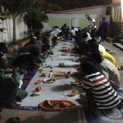 برعاية مكتب سماحة المرجع الكبير السيد الحكيم (مد ظله).. مأدبة افطار بمناسبة شهر رمضان في منطقتي كاسوا وابلاكوا في غانا الأفريقية