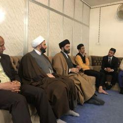 طلبة جامعات واعداديات مدينة الحلة يزورون مكتب سماحة المرجع الكبير السيد محمد سعيد الحكيم (مدّ ظله)