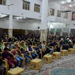 برعاية مكتب سماحة المرجع الكبير السيد الحكيم(مد ظله)، اختتام الدورات القرآنية الفصلية لحفظ سورة يونس (ع) في مدينة (المدينة)شمال البصرة، بمشاركة (400) طالب وطالبة