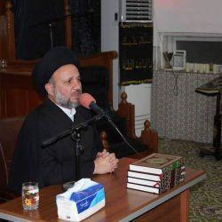 ممثل سماحة المرجع الكبير السيد الحكيم (مدّ ظله) يلتقي بطلبة العلوم الدينية وخدم المواكب والهيئات الحسينية وزوار الأربعين في مدينة الحلة