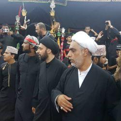 ممثل سماحة المرجع الديني الكبير السيد الحكيم (مدّ ظله)، يشارك المؤمنين مجالس العزاء في سلطنة عُمان