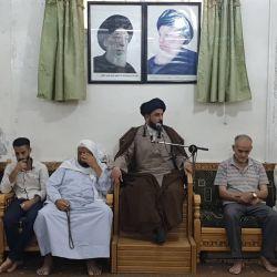 مكتب سماحة المرجع الديني الكبير السيد محمد سعيد الحكيم (مد ظله) في سوريا، يقيم مجلس الفاتحة على روح المرجع الديني الكبير السيد محمد الحسيني الشاهرودي (قدس سره)