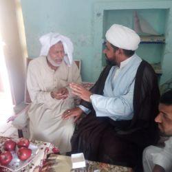 قسم التبليغ الخارجي بمكتب المرجع الكبير السيد الحكيم (مدّ ظله) يزور احد علماء الدين في أقليم البنجاب بالباكستان